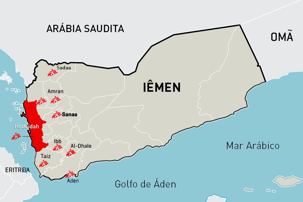 Iêmen: MSF apoia hospitais que cuidam dos feridos em Hodeidah