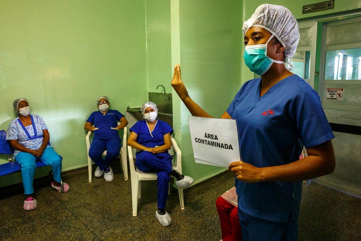 Enfermeira de MSF relata como está sendo atuar contra a COVID-19 no Brasil