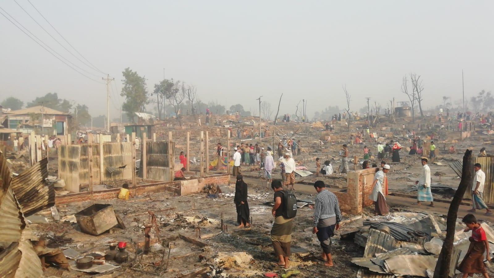 Incêndio em Cox's Bazar, Bangladesh