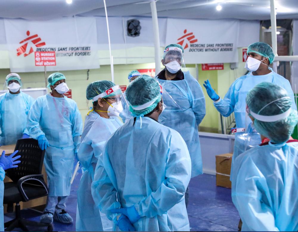 MSF abre centro de tratamento de COVID-19 em Bihar, na Índia