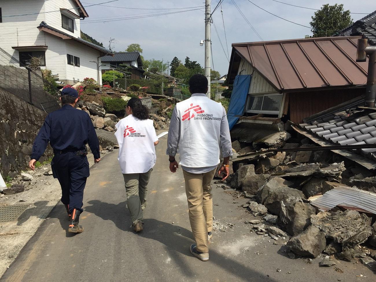 Terremoto no Japão: MSF inicia atividades médicas em Minami-aso