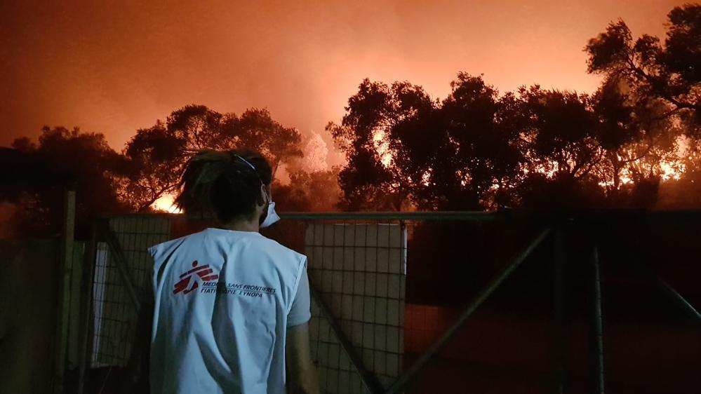 Grécia: incêndio destrói campo de Moria e deixa 12 mil pessoas desalojadas