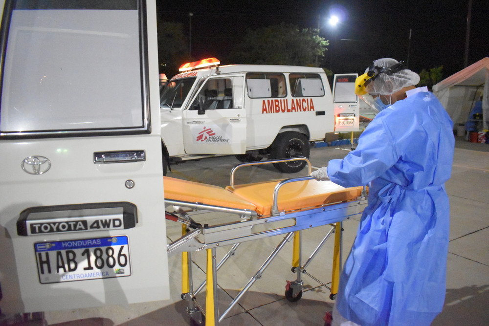 Honduras: em apenas dois meses, ambulâncias de MSF garantem que 868 pacientes com COVID-19 cheguem ao hospital com vida