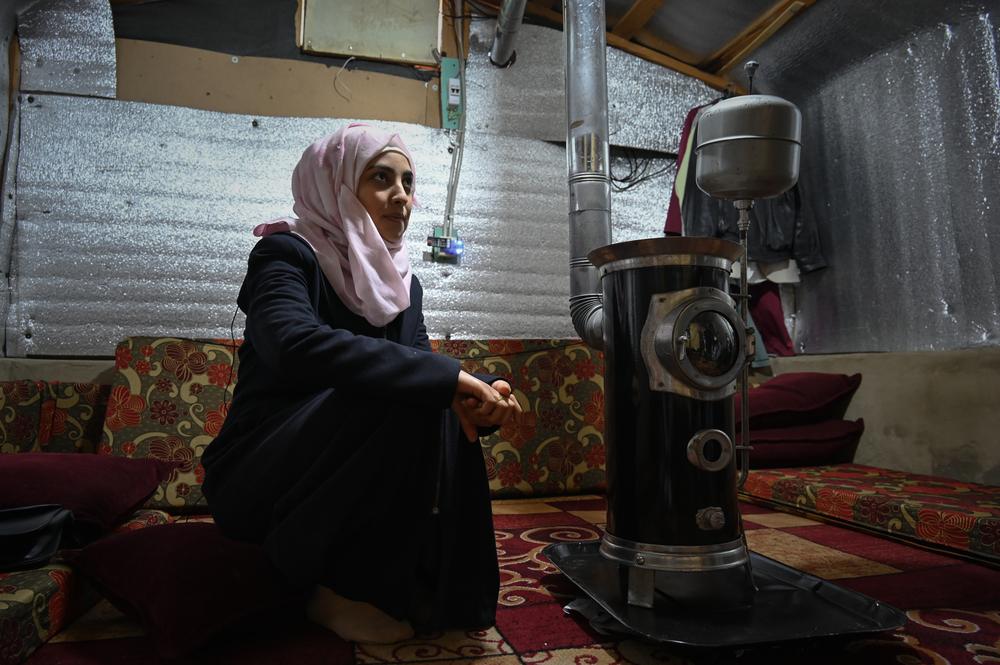 Shaimaa no campo de refugiados em que mora, Arsal (SOPHIE MUELLER/MSF ).