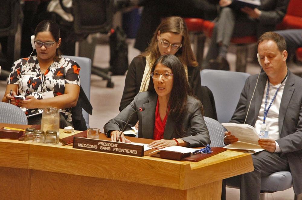 Atacar hospitais e profissionais de saúde é uma linha vermelha não negociável, diz presidente internacional de MSF ao Conselho de Segurança da ONU
