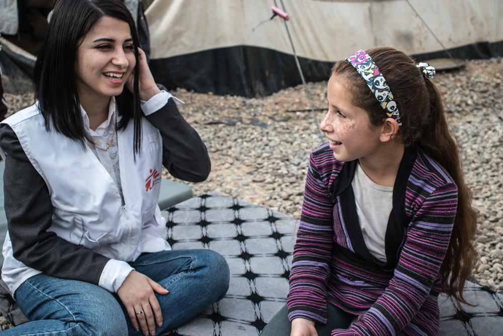 Suporte psicossocial para crianças de Mossul