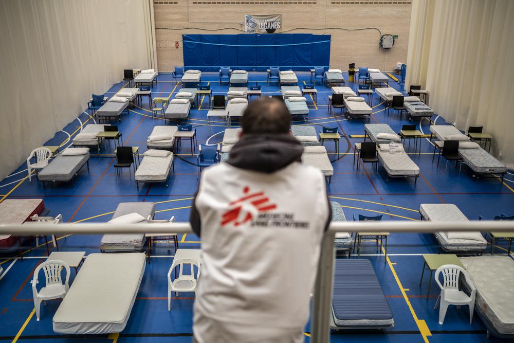 Hospital instalado por Médicos sem Fronteiras para tratar enfermos da Covid-19 em Leganes. Foto: Olmo Calvo /MSF