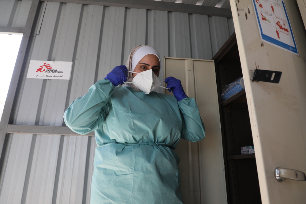 MSF atua contra a COVID-19 no campo de Zaatari, na Jordânia