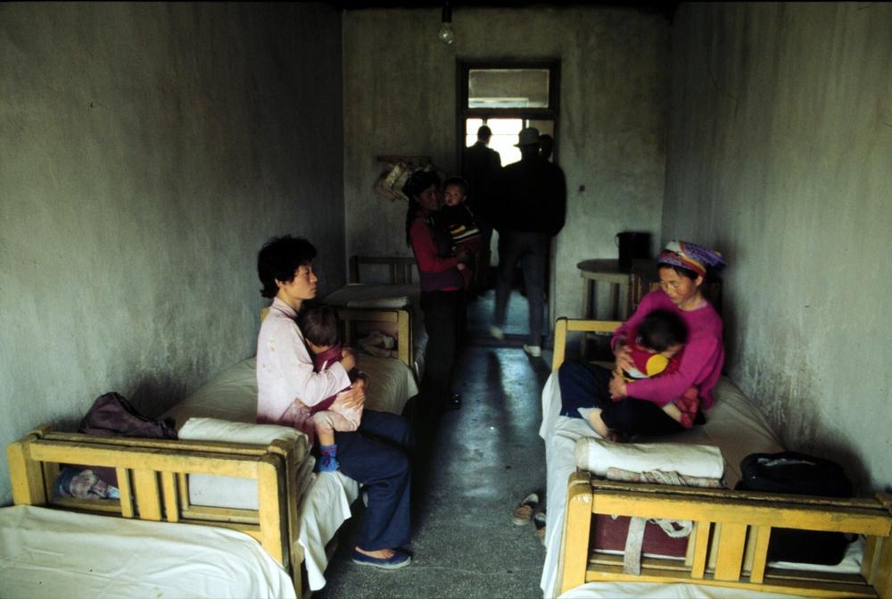 Centro de saúde hospitalar, na Coreia do Norte, onde as condições são muito ruins. Foto por: Peter van Quaille / MSF