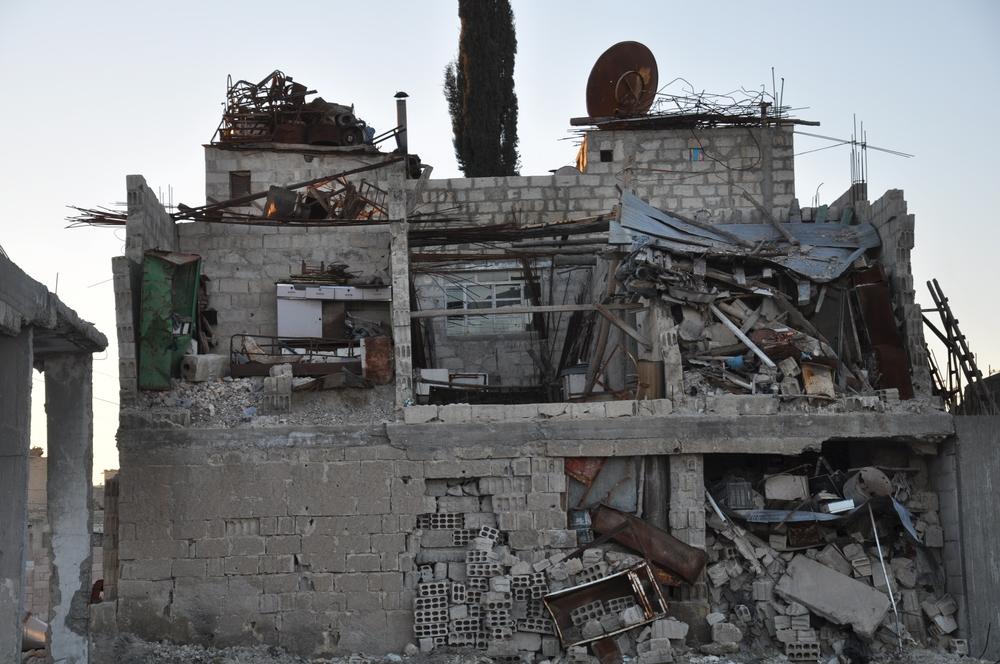Destruição em Kobane, no norte da Síria.