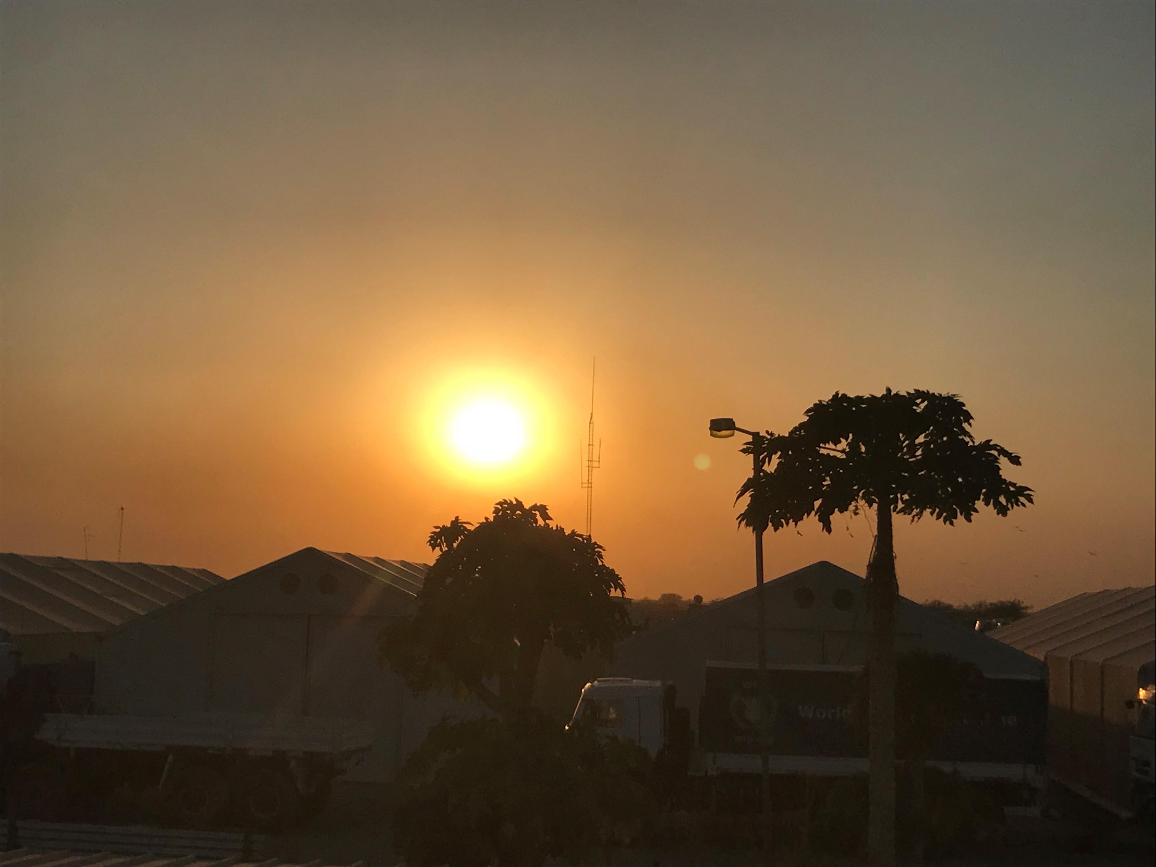 O fim de cada dia num projeto no Sudão do Sul
