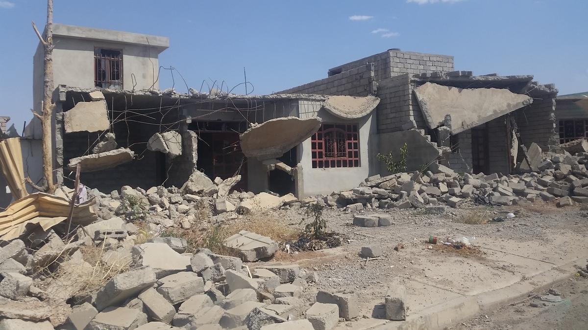 Casas destruídas por confrontos no Iraque (Foto: MSF)