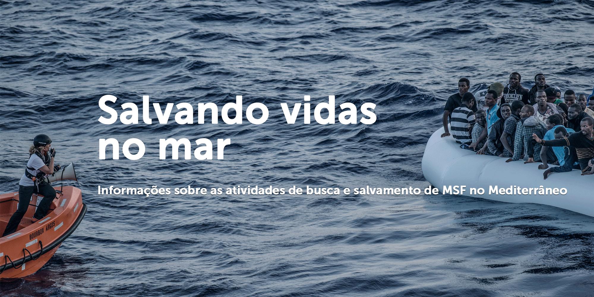 Salvando vidas no mar