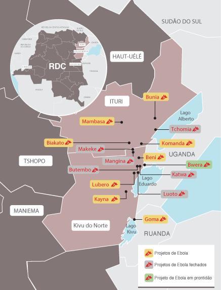 Atuação de MSF na resposta ao Ebola na RDC