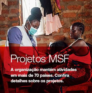 imagem mostra um atendimento em projeto de MSF