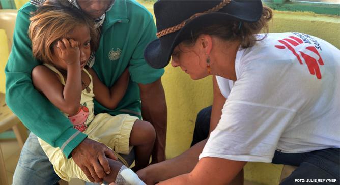 As equipes de Médicos Sem Fronteiras levam cuidados a populações que, por quaisquer motivos, estejam privadas do acesso a serviços de saúde.