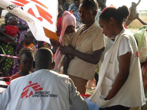 Campanha de vacinação realizada no Sudão do Sul para proteger refugiados e deslocados internos (Foto: MSF)