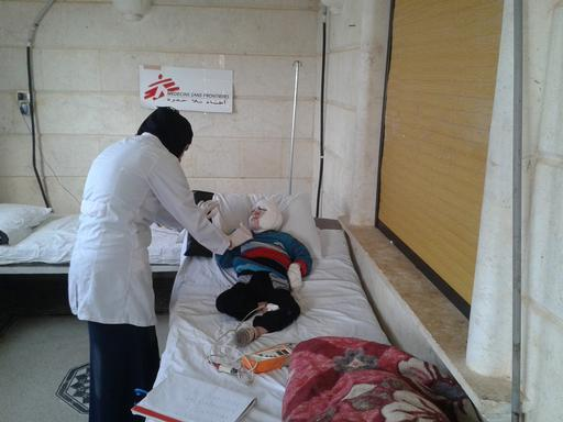 Hospital de MSF para vítimas de queimaduras na província de Idlib (Foto: MSF)