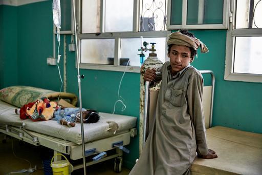 Pacientes no hospital de Amran, na cidade de Saada, no Iêmen (Foto: Sebastiano Tomada/Getty Reportage)