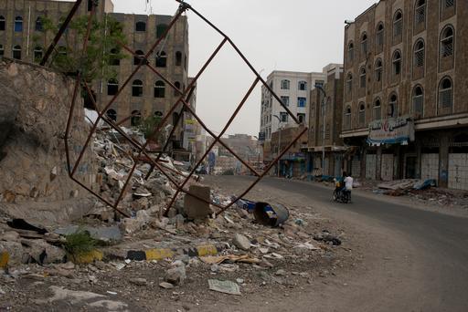 Destruição: escola atingida por bombardeio em Taiz (Foto: MSF)
