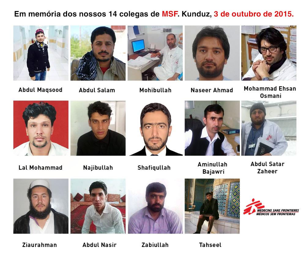 Afeganistão: em memória dos colegas mortos nos ataques em Kunduz