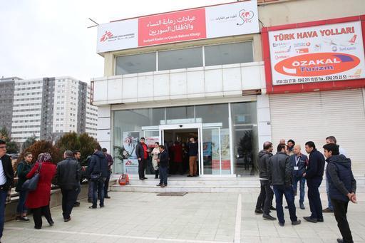 Inauguração da clínica para mulheres e crianças sírias em Gaziantep (Foto: Juan Carlos Tomasi/MSF)