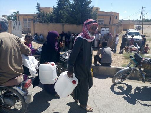 Distribuição emergencial de alimentos em Aleppo (Foto: MSF)