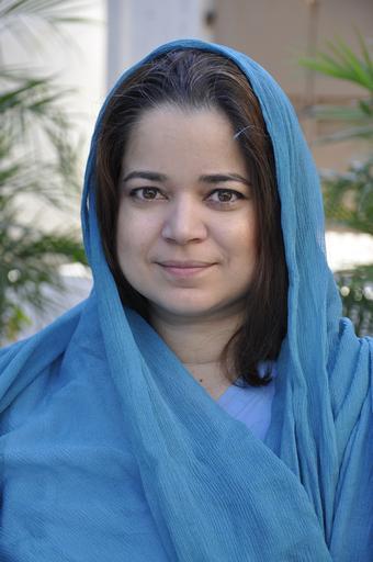 Dra. Anokhi Ali Khan - pediatra da equipe de MSF do hospital para mulheres de Peshawar (Foto: Amandine Colin/MSF)