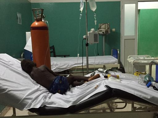 Unidade de assistência pediátrica do Hospital Nacional de Bissau (Foto: Ana Lilia Banda/MSF)