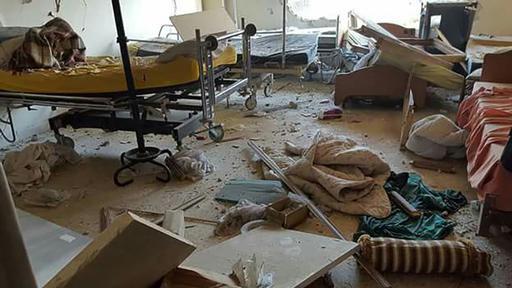 Destruição : hospital apoiado por MSF em Idlib, na Síria, foi atacado em agosto deste ano (Foto: MSF)