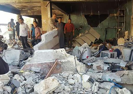 Destruição: hospital apoiado por MSF em Idlib (Foto: MSF)