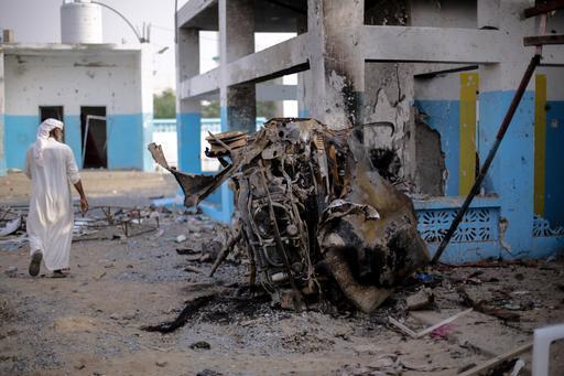 Parte do hospital de Abs após o ataque aéreo (Foto: Rawan Shaif)