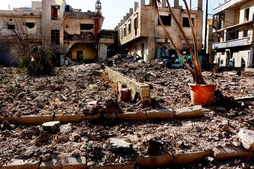 A população do leste de Aleppo sofre com a constante destruição das áreas civis da região (Foto: Ghaith Yaqout Al-Murjan / MSF)