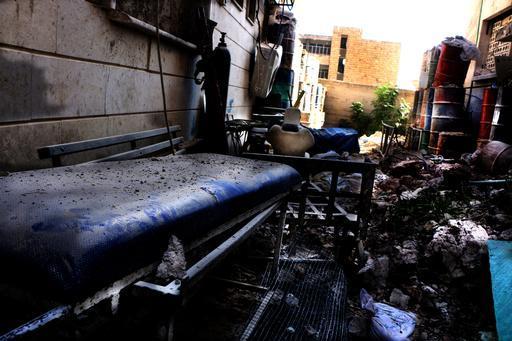 Destruição no hospital M10, principal centro de trauma da região leste de Aleppo (Foto: Ghaith Yaqout Al-Murjan / MSF)