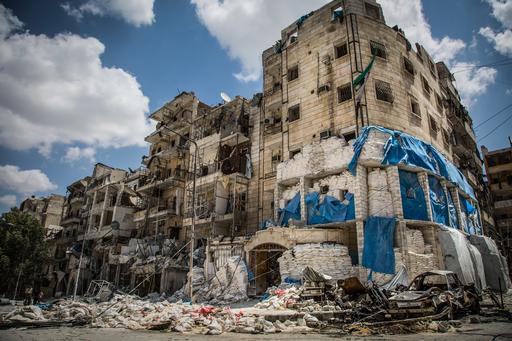 Leste de Aleppo: um dos hospitais bombardeados em 2016 (Foto: Karam Almasri)