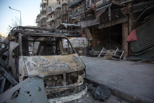 Escombros: o cenário mais comum no leste de Aleppo hoje (Foto: Karam Almasri)