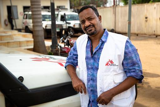 Coordenador médico de MSF - Endashaw Mengistu