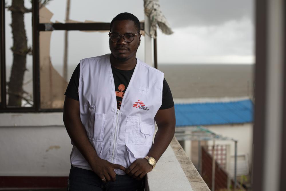 Filipe Francisco Luis, trabalhador do sexo e membro chave do programa de sensibilização de HIV de MSF para homens que fazem sexo com homens em Beira © Pablo Garrigos/MSF