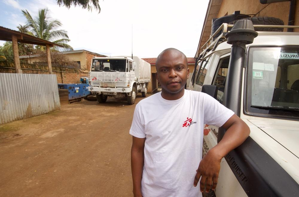 David Walubila Mwinyi, supervisor de dados médicos no Kivu do Sul, República Democrática do Congo