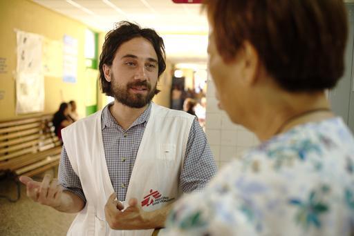 Fabio Forgione, coordenador-geral de Médicos Sem Fronteiras no Iraque (Foto: Marcell Nimfuehr