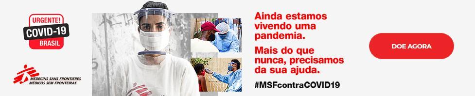 Faça uma doação e apoie #MSFcontraCOVID19