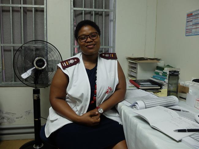 Enfermeira de MSF Slindile Nkambule