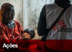 Projetos de Médicos Sem Fronteiras em cerca de 70 países
