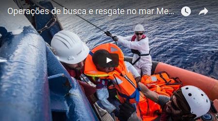 Operações de busca e resgate no Mediterrâneo