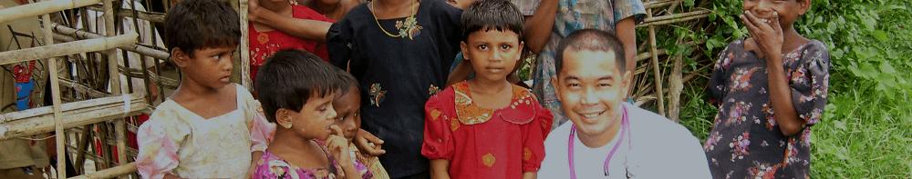 Pediatra Erwin Lloyd, de MSF, em Mianmar