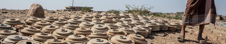 Iêmen: pessoas encurraladas por minas no país