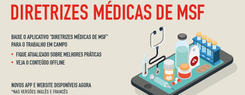 MSF lança novo aplicativo de diretrizes médicas