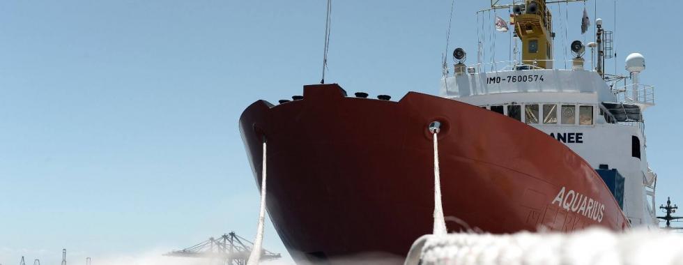 Navio Aquarius retorna ao Mediterrâneo