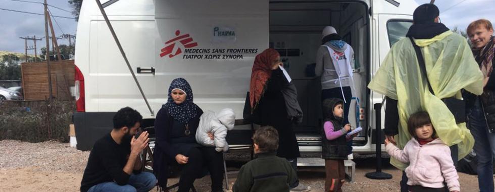 Cuidados médicos para refugiados e migrantes ao longo da rota do Mediterrâneo