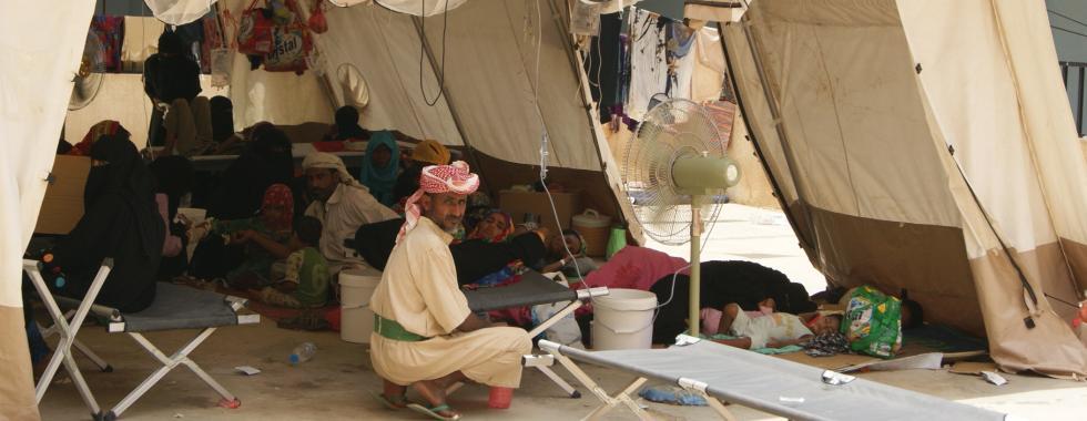 """Cólera no Iêmen: """"Ali está lutando pela sua vida"""""""